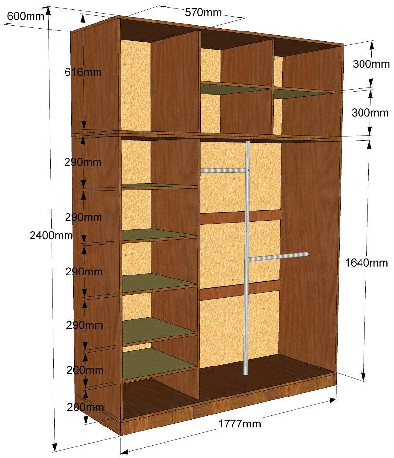 Gambar dan dimensi lemari kompartemen. Cara sederhana untuk merakit ... 81516b5761